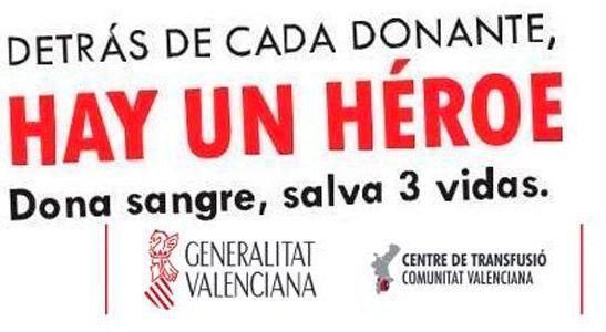 Calendario comarcal de donación de sangre