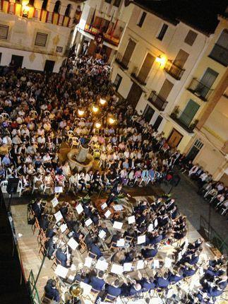 Concierto en la plaza Mayor. Foto:A.I.