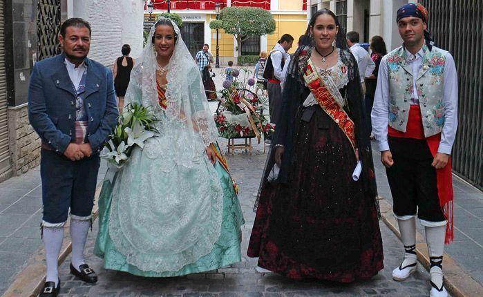 La Reina y Fallera Mayor de Segorbe y Torrent. Foto: A.M.
