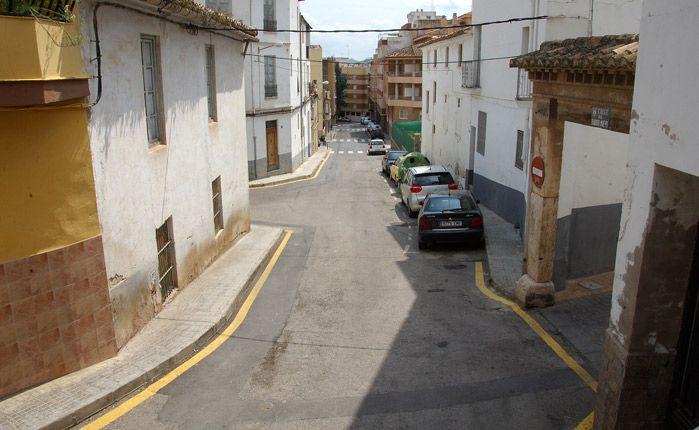 calle Benaguacil por la que soltaron la bola. Foto:J.P.