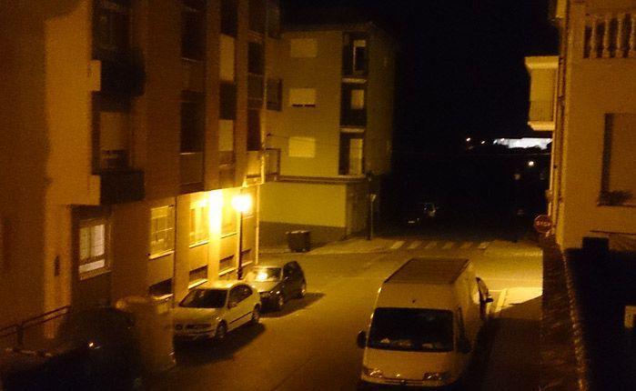 La calle Burriana anoche. Foto:J.Plasencia.