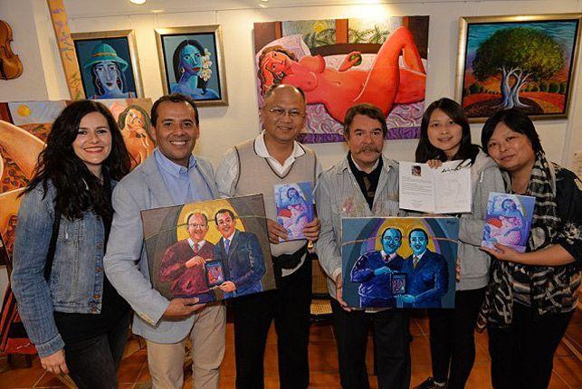 Algunas de las obras compradas. Foto:M.V.Martínez.