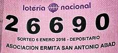 La Asociación de San Antonio Abad y la Administración de Loterías de Segorbe venden un número equivocado de lotería