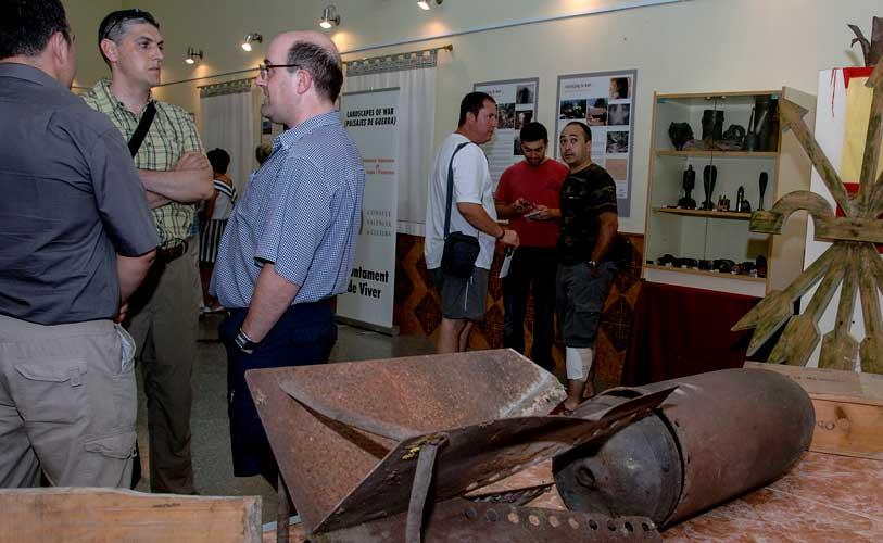 Exposición de objetos localizados en  trincheras de Viver. Foto:J.Plasencia,
