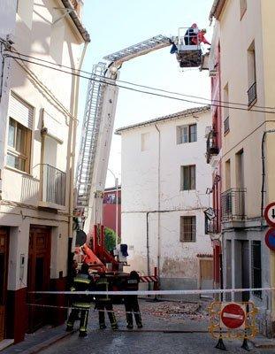 Trabajo de los bomberos. Foto:R.Martín